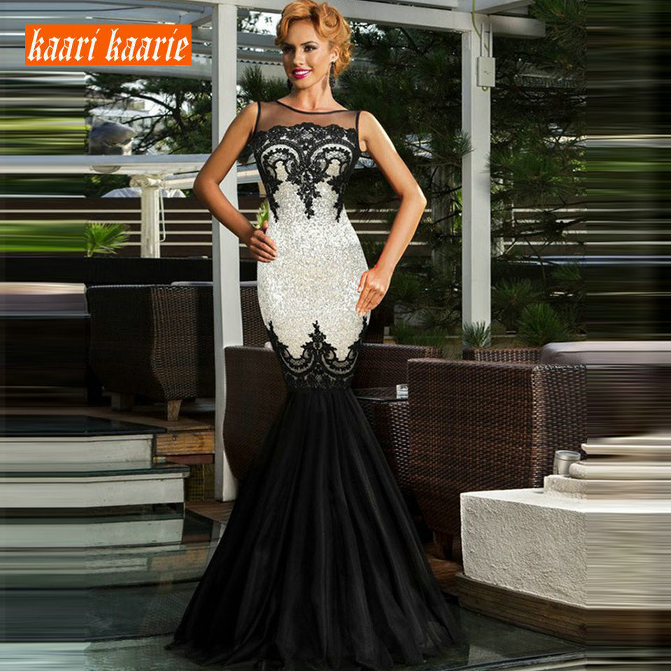 Formal Mermaid Evening Dresses Long 2019 Evening Gowns Women Scoop Sequin Sleeveless Floor Length Sexy Party Dress Custom Made