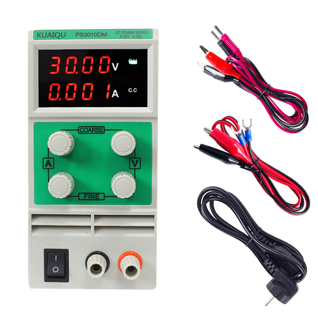 KUAIQU mini DC Power Supply Switching 110/220V laboratory Digital Variable Adjustable DC power supply 30-60V 3A 5A 10A