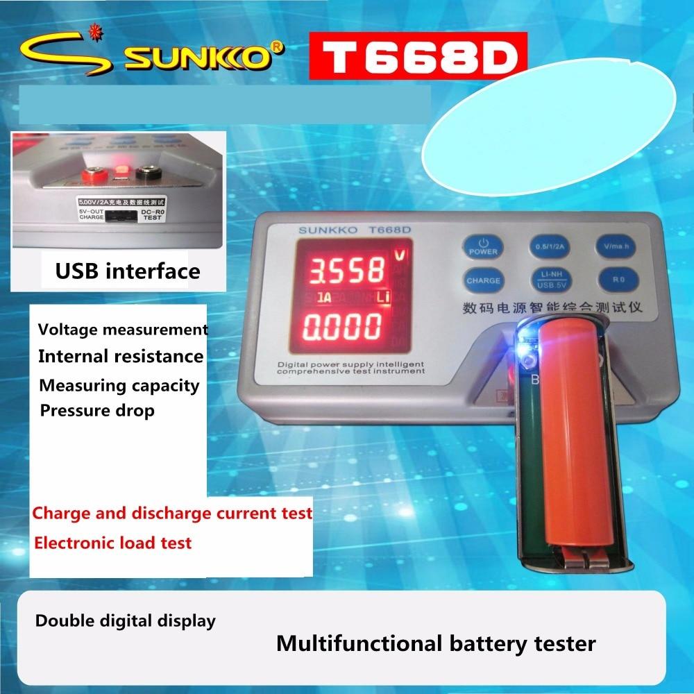 Battery Capacity Tester Battery Internal Resistance Tester Data Line Tester Measuring Mobile Power 12v zb206 v1 3 battery capacity tester resistance test 18650 mobile power lithium battery test