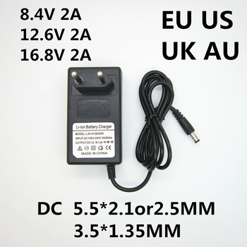 1PCS AC 100-240V DC 8.4V 12.6V 16.8V 2A 2000ma adapter power supply lithium battery charger for 18650 lithium battery