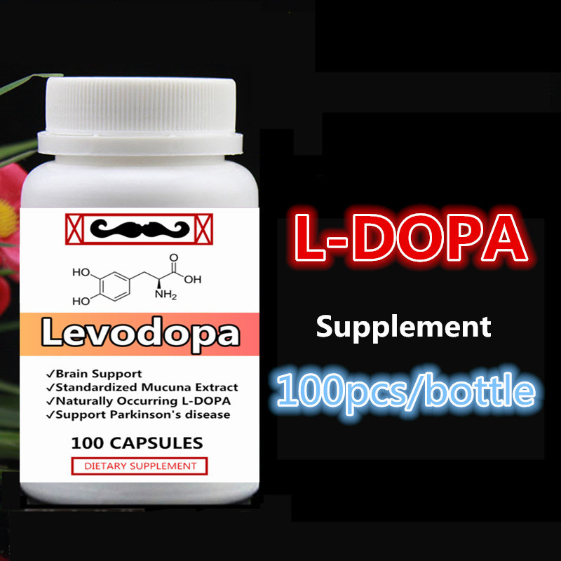 L-DOPA Levodopa Pure Mucuna Extract with Dopamine Brain Function Support Helps Parkinson's Syndrome LDOPA 100pcs/bottle hoffet bibliotheca psychiatrica typologische gliederung depressiver syndrome
