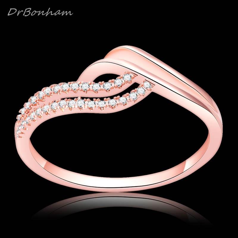 Drbonham Frauen Hochzeit Regenbogen Paar Herz 4ct Zirkon Rose Gold Gefüllt Engagement Ring Set Allianz Dr1701 Verlobungsringe