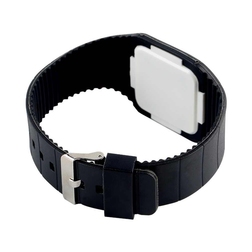 ユニセックス LED デジタルタッチスクリーンゼリー腕時計腕時計プラスチック製の超薄型レロジオキャンディーカラーの子供のためのクリスマスギフト