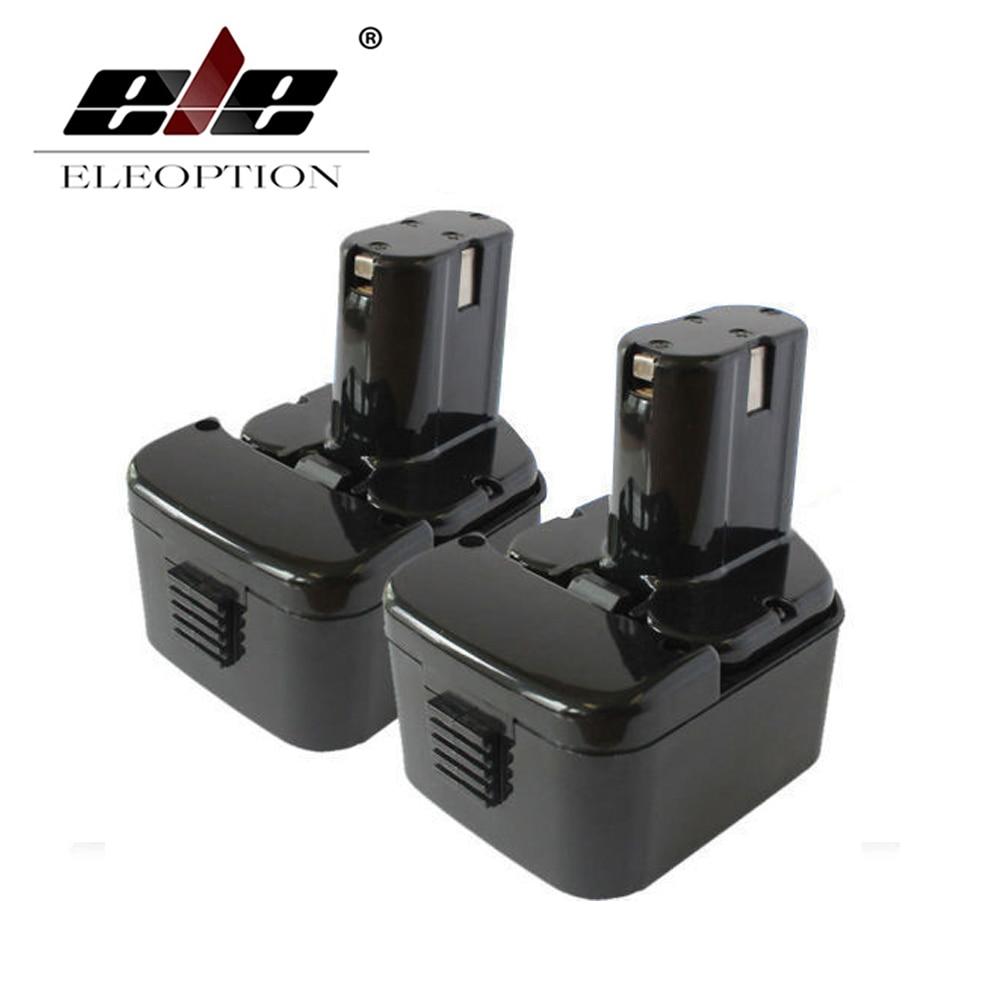 ELEOPTION 2 PCS 12V 2.0AH 2000mAh Rechargeable Battery For HITACHI EB1226HL EB1212S EB1220RS EB1220HL Power Tool 3 6v 2400mah rechargeable battery pack for psp 3000 2000