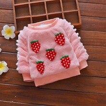 BibiCola/Зимний теплый свитер для маленьких девочек повседневные плотные вельветовые свитера для новорожденных девочек, модные топы для малышей