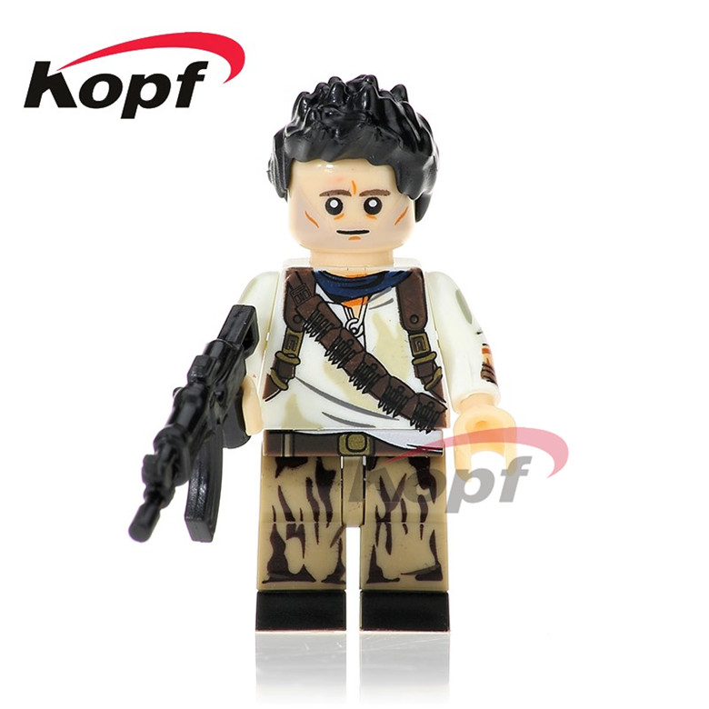 50Pcs KL071 Super Heroes Kill Bill Vol.1 Uma Thurman The Bride Nathan Drake Peeta Bricks Building Blocks Best Children Gift Toys image