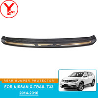 ABS rear bumper protector sticker For nissan x trail t32 2014 2015 2016 parts accessories For nissan x trail t32 xtrail YCSUNZ