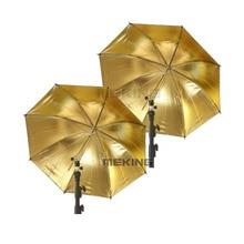 """Meking 2pcs Selens S 84 centimetri/33 """"Oro Nero Ombrello di Illuminazione Ombrelli softbox 2in1 kit per fotografiche Fotografie"""