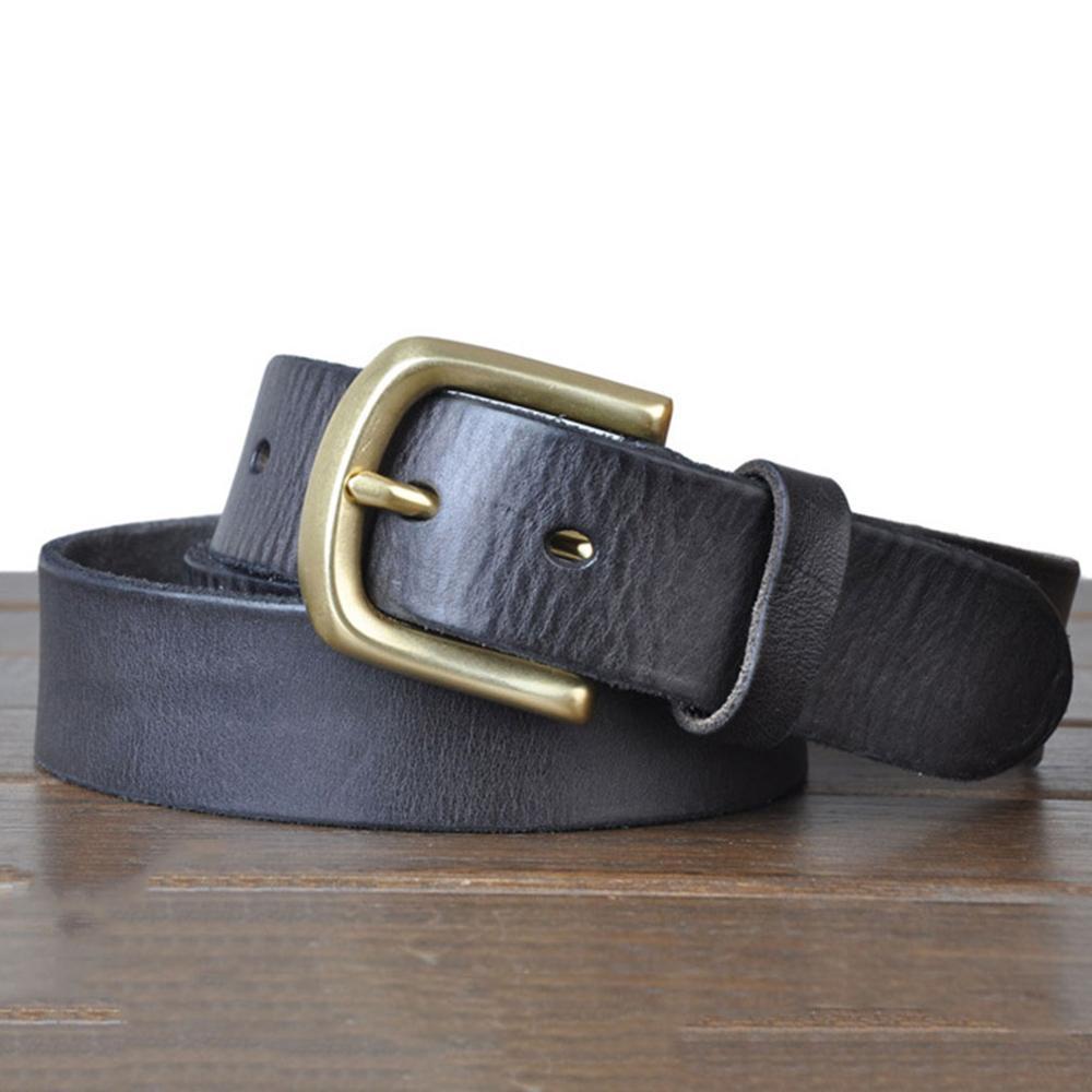 Image 4 - FAJARINA 3.8cm Wide Top Quality Men's Retro Styles Man Fashion Genuine Leather Men Pin Buckle Belts for Men Leather Belt NW0033-in Men's Belts from Apparel Accessories