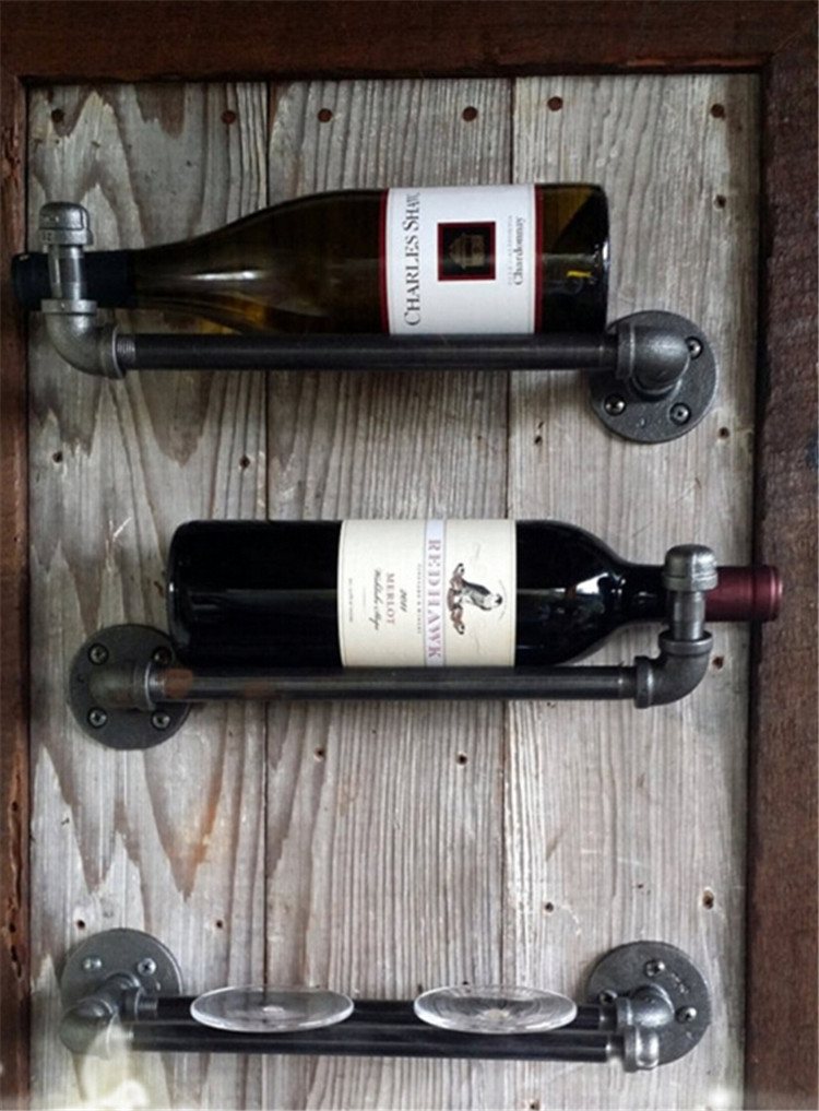 Wine Rack Shelving American Industrial Loft Style Wrought