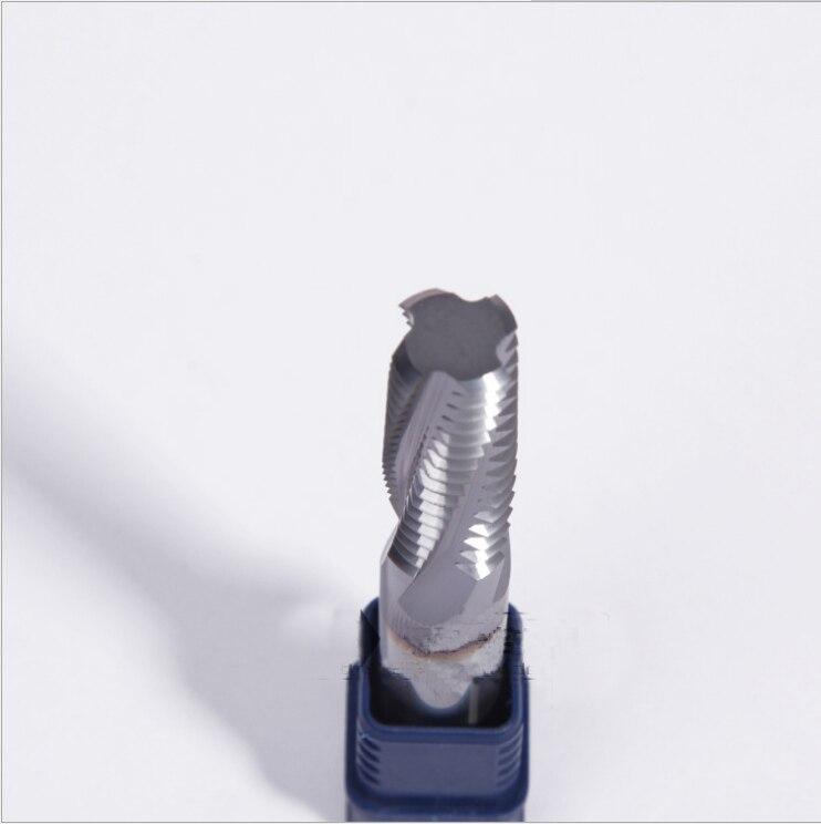 M8 * 1.25*16*70 Quatre Flûte métal fin moulin outils de fraisage fil mill coupe carbure de coupe outils métrique fin mills