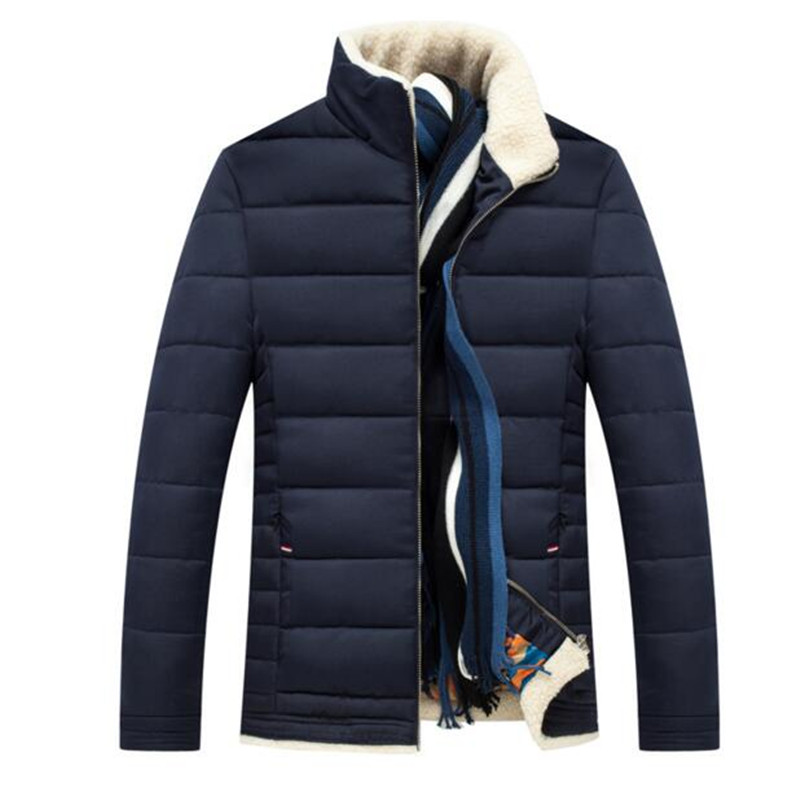 2016 Men s Down Jackets Mens Brand Thick Warm Fur Collar Hooded Duck Down Coat Male