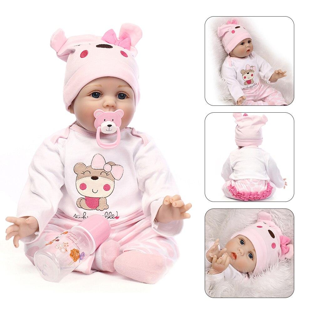 40 cm 55 cm NPK poupée Reborn Silicone souple Reborn bébé poupées vinyle jouets grandes poupées enfants compagnons de jeu nouveau-né bébé poupées réalistes