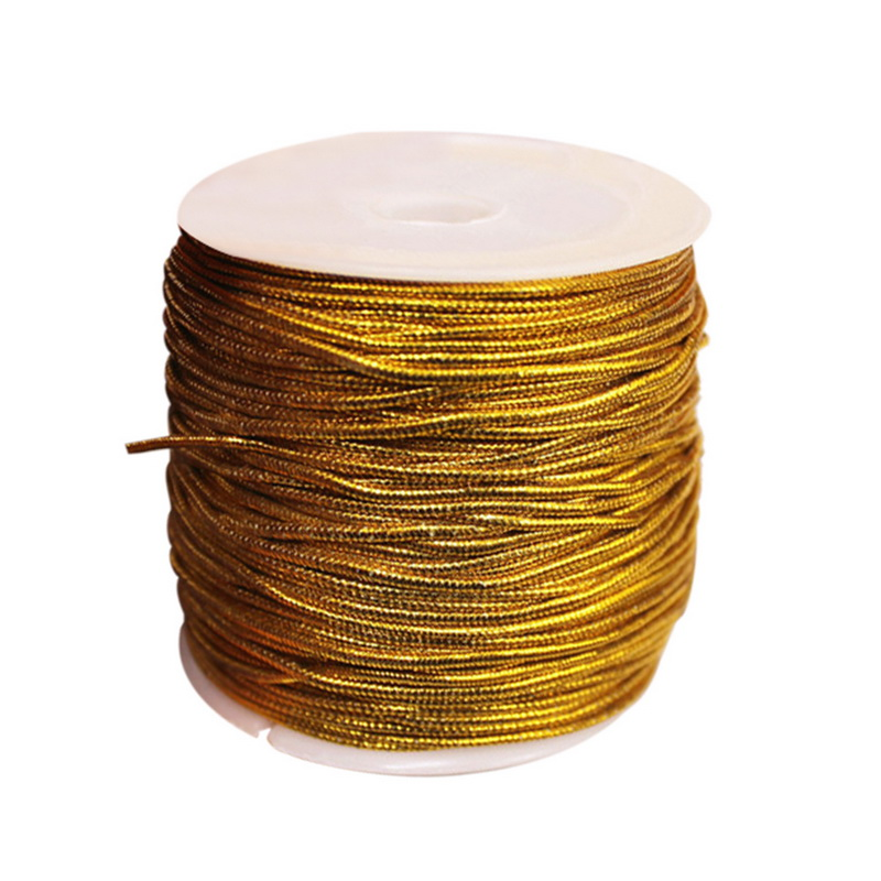 Urijk 25M/Roll Gold/silver Packing Rope Ornaments String Elastic Cords For Home Decor Handmade Christmas Gift Packing Crafts DIY(China)