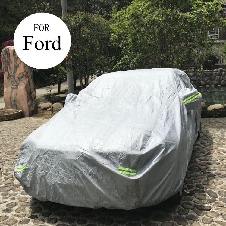 Bâches de voiture en coton épaissir imperméables pour ford focus 2 3 mk2 mondeo mk4 fiesta kuga ecosport explorer Automobiles anti-poussière