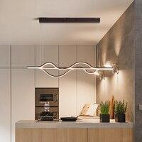 Современный творческий светодио дный люстра гостиная алюминиевый ресторан лампа кухня кафе украшение дома люстра AC90 ~ 260 В
