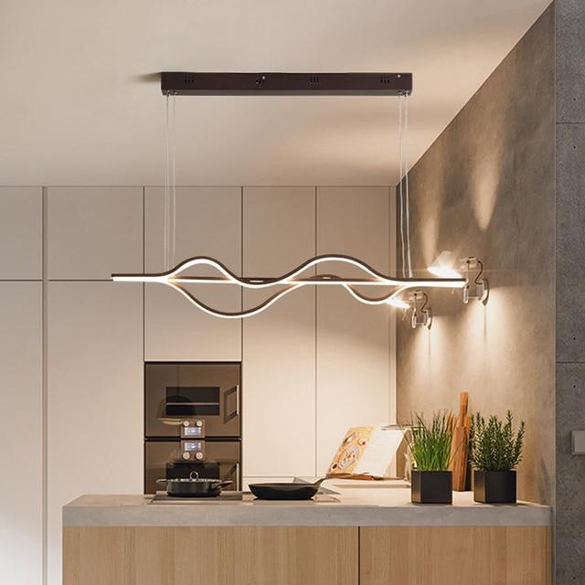 Modern creative LED chandelier living room aluminum lamp restaurant kitchen bar coffee house decoration chandelier AC90~260V