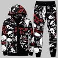 High Quality Autumn/Winter Men's Fashion Cotton Skulls Printing Hooded Sweatshirts And Leisure Haroun Pants Mens Sets S~ 4XL