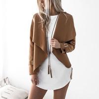 패션 새로운 여성 카디건 긴 소매 캐주얼 재킷 솔리드 캐주얼 높은 허리 여성 탑 여자 재킷