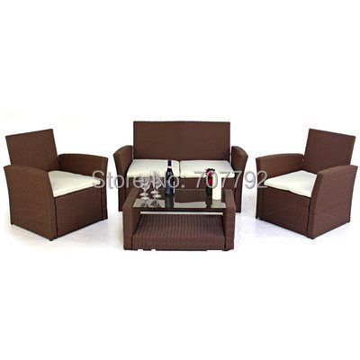 2017 New Products Modern Furniture Elegance Chatsworth 4 Seater Ratan Sofa  Set
