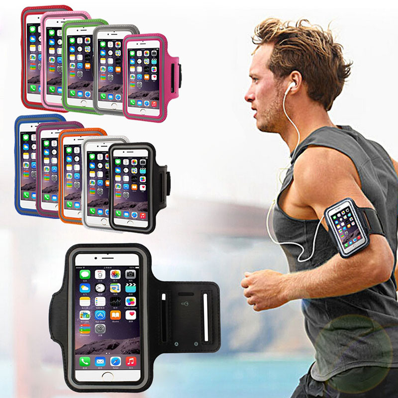 Universal 4   6 inch Sport Waterproof Armband For iPhone 6 7 8 Plus X XS Max XR Mobile Phone Case Outdoor Running Sport Armbands-in Armbands from Cellphones & Telecommunications