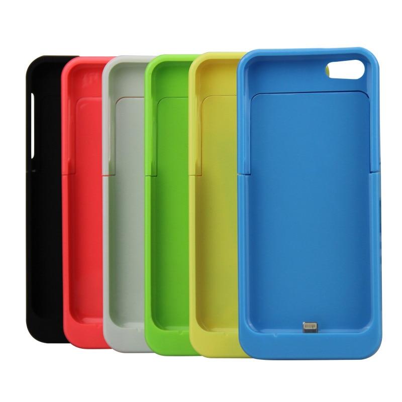 imágenes para 2200 mAh Para el iphone 5 5C 5S SÍ Cargador de Batería Externo Portable caso de Reserva del Caso del Banco de Potencia de Carga en 6 Colores Apoyo i0s10
