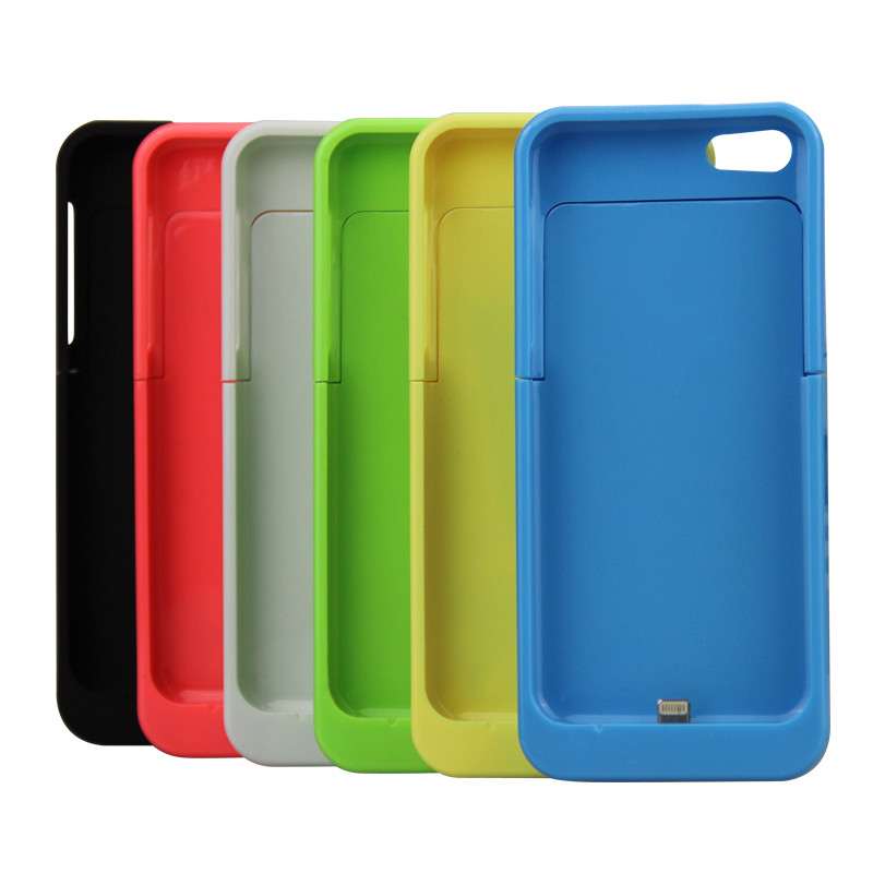2200mAh <font><b>For</b></font> <font><b>iPhone</b></font> 5 5S 5C SE External Portable Battery <font><b>Charger</b></font> <font><b>case</b></font> Backup Charging Power Bank <font><b>Case</b></font> in 6 Colors Support i0s10