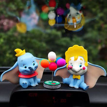 cute crown Dumbo Car decoration cartoon children doll model toy Statue Landscape Decoration collection gift