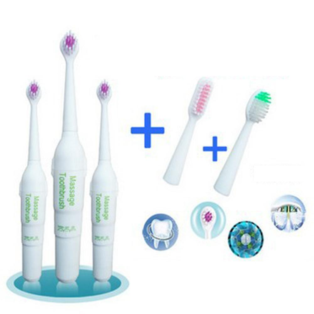 Waterproof Electric Toothbrush for Kids Rotation Non Slip Electric Toothbrush With 2 Extra Brush Heads Oral Care Tooth Brush image