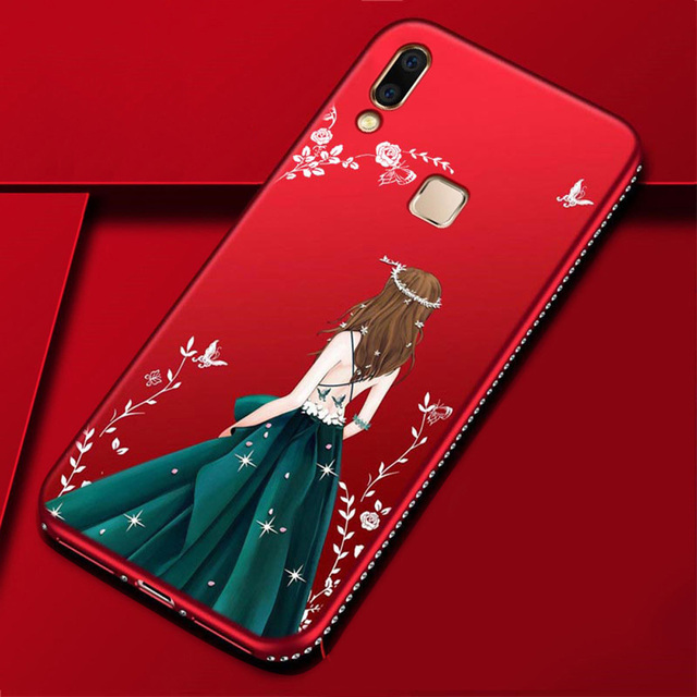 pretty nice 2a8c4 24b77 US $2.44 35% OFF|For Vivo V11 Case Fashion Wedding Dress Girl Ultra Thin  Soft Silicone Phone Cover For Vivo V11 Pro V9 Youth Y85 Case (E0412)-in ...