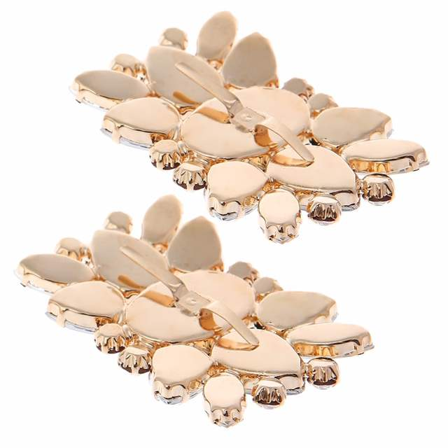 EYKOSI 2Pcs Rhinestone Shoe Clips Accessory DIY Decoration Vintage Style  For Women 5.8x4cm dfff2539381a