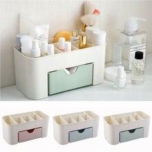 Пластиковая коробка для хранения, органайзер для макияжа, чехол, ящики для косметики, органайзер для хранения, офисный контейнер для косметики