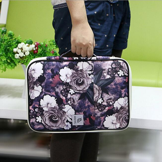 Canva Multi functional Waterproof A4 Document Bags Filing Products Notebooks Pens Computer Portable Storage Bag For Men Women in File Folder from Office School Supplies