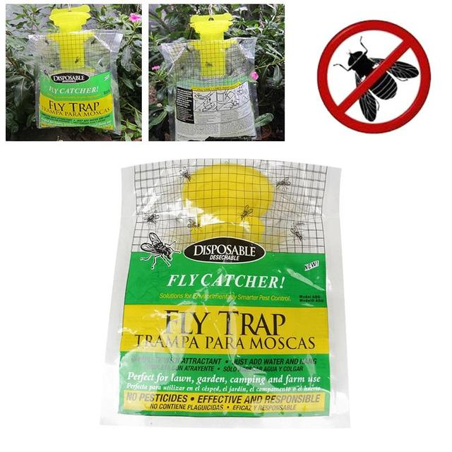 traps pest control products disposable plastic fly trap fly catcher bug insect killer hanging bait bag - Pest Control Products