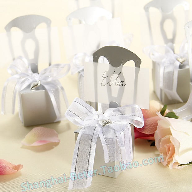 Free shipping 336pcs th002 a0 miniature silver chair for Wedding dress shipping box
