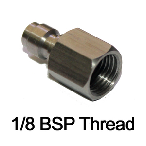 Image 3 - PCP airgun Inner Thread 1/8 27 NPT M10*1 1/8BSP Male Quick Disconnect Adaptor Stainless Steel Fill Nipple paintball New