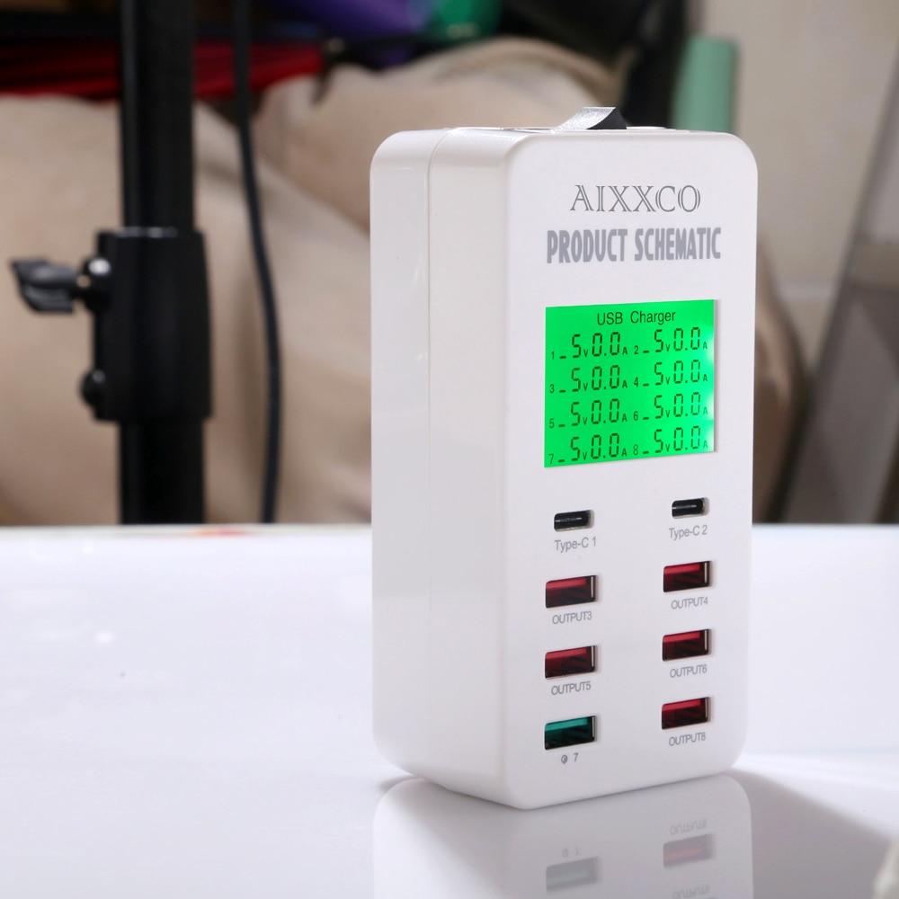 AIXXCO 35W USB-laddare med 2 USB-typ C-portar Laddningsstation - Reservdelar och tillbehör för mobiltelefoner - Foto 5