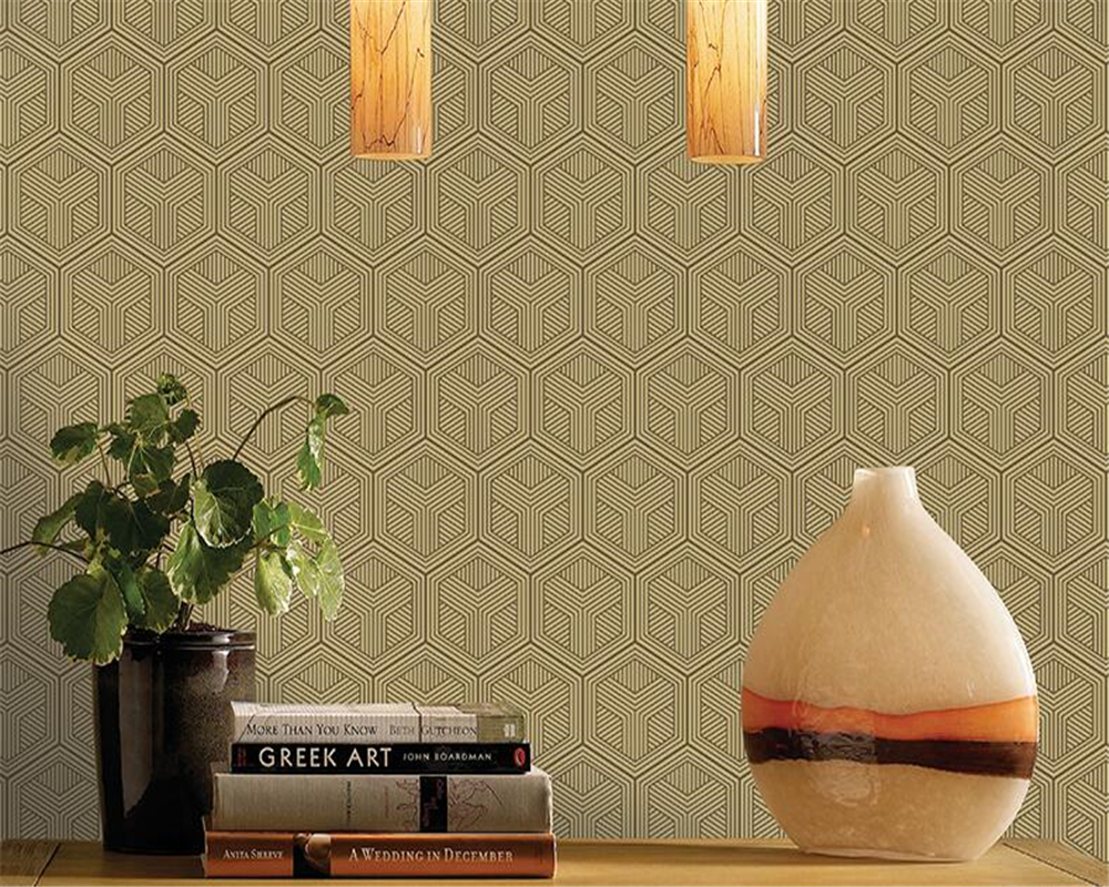 beibehang New Chinese style vintage non-woven wallpaper living room study TV background wall office hexagon pattern wallpaper 3D beibehang pressure 3d non woven wallpaper luxury european style living room wallpaper background wallpaper
