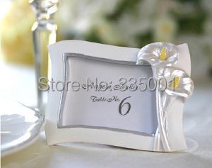 Wedding Favor Gift And Giveaways For Guest Calla Lily Photo Frame Party Place Card Holder Picture Frame  Pcs Lot