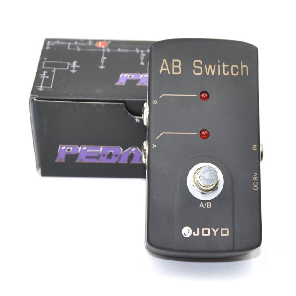 JOYO JF-30 A/B переключатель Электрогитары педаль эффектов светодиодный индикатор