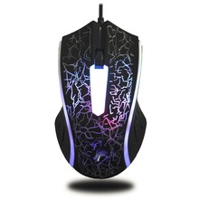 2018 Black Gamer Mouse Gaming Mice Wired Gaming Mouse X7 4000DPI 6 Button LED Optical Computer Drop Shipping mouse con filo
