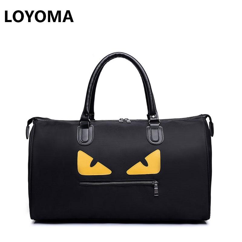 2017 Women Men Monster Travel Handbag Ladies Tote Bag High Quality Nylon Waterproof Duffle Luggage High Capacity Weekend Overnig hot unisex women duffle travel luggage suitcase tote bag weekend handbag
