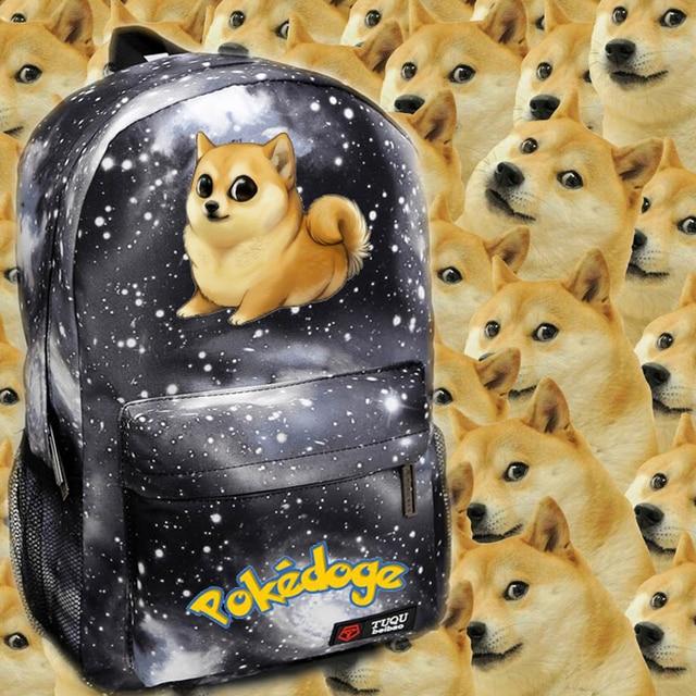 Wow Doge Meme Funny Joke Dog Shoulder Bag Womens Canvas Backpack