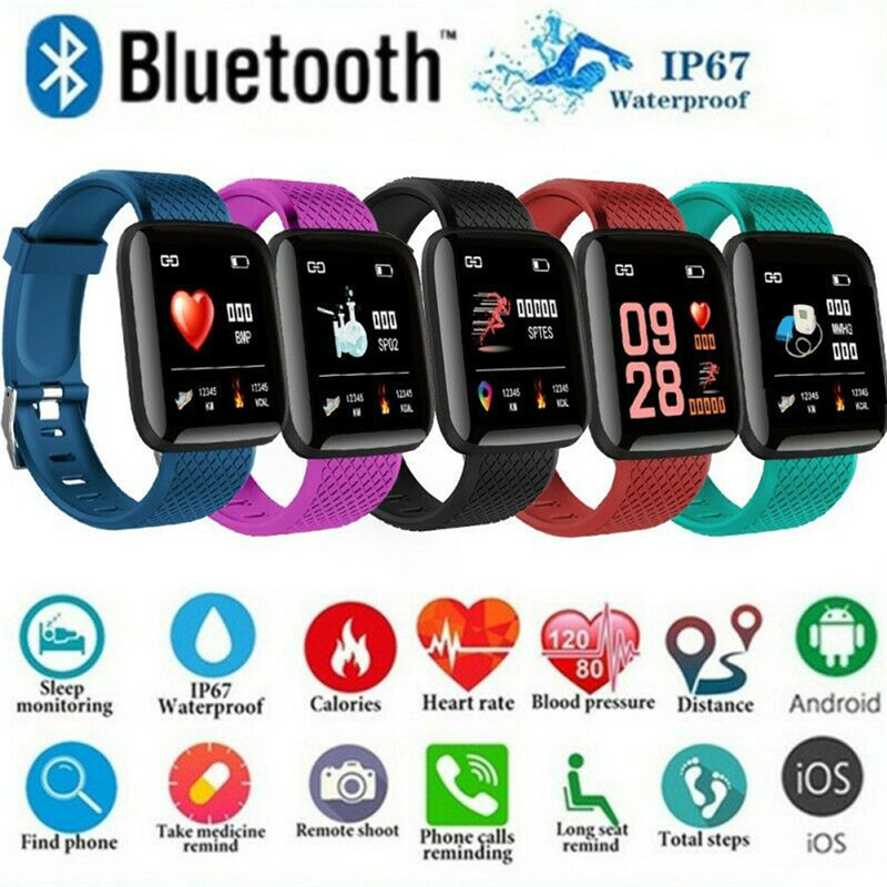 Bluetooth Bracelet Smart Watch Blood Pressure HeartRate Monitor Fitness Trackers Sport Smartwatch For IOS Android Samsung