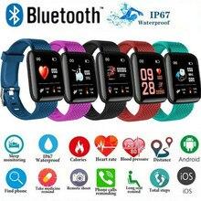 Bluetooth Смарт часы кровяное давление HeartRate монитор фитнес-трекеры многофункциональный спортивный Браслет smartwatch для iOS Android