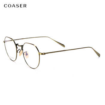 Brand Vintage Round Myopia Eyeglasses Men Ultralight Titanium Optical Glasses Frame Women Spectacle Frames Prescription Glasses - DISCOUNT ITEM  45% OFF Apparel Accessories