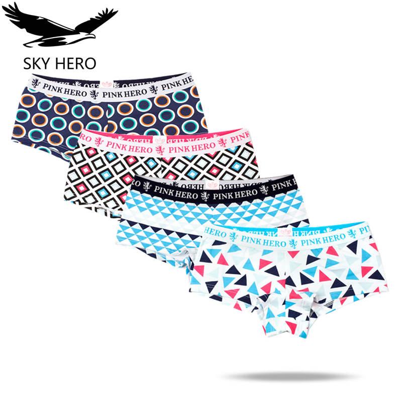 4pcs/lot Womens Underwear Culotte Femme Boxer Cotton   Panties   Sexy   Panty   for Woman Underpants Ladies Shorts Fashions Clothing
