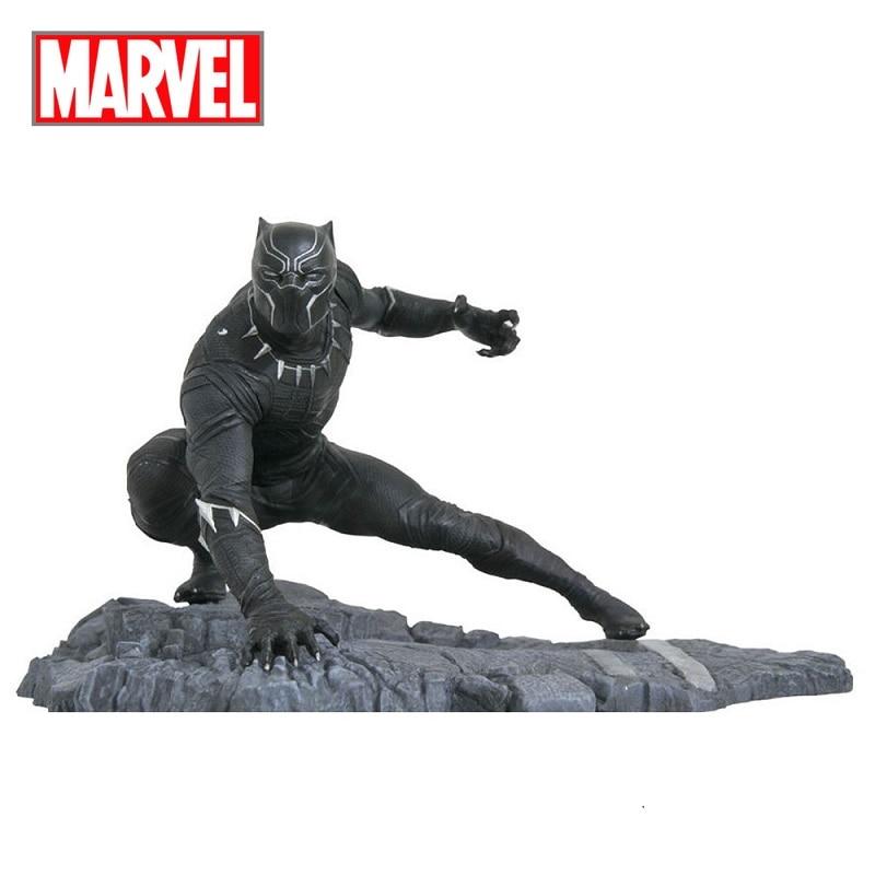 Disney Marvel Avengers Black Panther Action Figure Sitting Posture Model Anime Doll Decoration Collection Figurine Toys model
