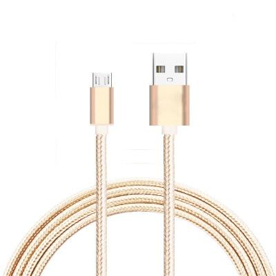 1 M Micro Usb-kabel Nylon Geweven Lading Cords 4 Kleuren Microusb Voor Samsung S3 S4 S5 Voor Htc Voor Android Telefoons