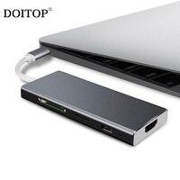 Doitop usb 3.1 tipo c hub adaptador USB C a 4 k hdmi cabo usb c pd usb 3.0 av digital multi port adaptador tf sd cartão conversor a3|-Tipo C Adaptador|   -